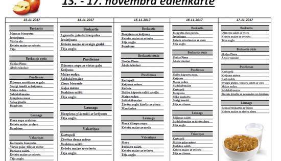 13. – 17. novembris