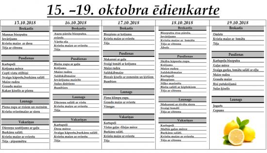 Ēdienkarte no 15.10. līdz 19.10.